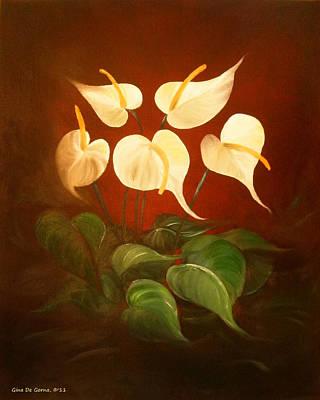 White Promises Art Print by Gina De Gorna