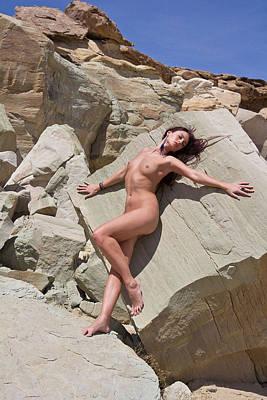 Photograph - White Rcks 4 - Melissa by Joel Gilgoff