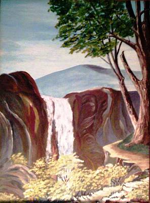 Painting - White River Falls by Jessi and James Gault