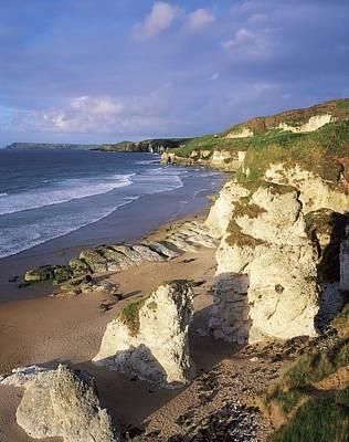 Portrush Photograph - White Rocks Beach, Between Portrush & by The Irish Image Collection