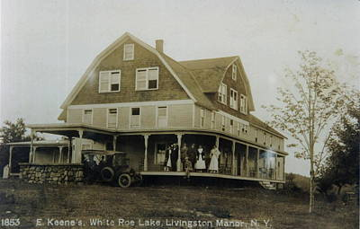 Photograph - White Roe Boarding House-owner E Keene Prior To My Grandfather. Circ 1900s by Ericamaxine Price