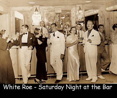 Photograph - White Roe Lake Hotel-livingston Manor-saturday Night At The Bar by Ericamaxine Price
