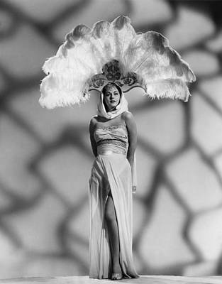 Evening Gown Photograph - White Savage, Maria Montez by Everett