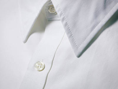 White Shirt Collar Detail. Art Print by Ballyscanlon