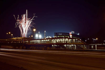 White Sox Homer Fireworks Art Print by Sven Brogren