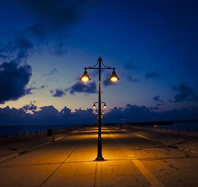 White Street Pier Lights Art Print