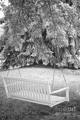 Black And White Photograph - White Swing Black And White by James BO  Insogna