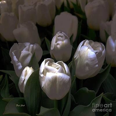 Digital Art - White Tulips by Dale   Ford