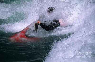 White Water Kayaker Art Print