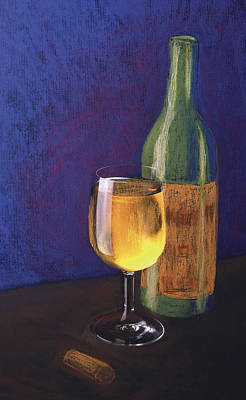 White Wine Art Print by Garry McMichael