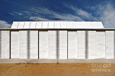White Wooden Fence And Roof Art Print by Eddy Joaquim