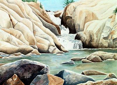 Whitefish Painting - Whitefish Falls by Shirley Mailloux