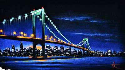 Sunsert Painting - Whitestone Bridge 1 Sold by Thomas Kolendra