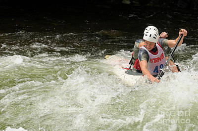 Photograph - Whitewater Kayaking by Les Palenik