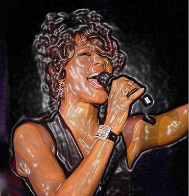 Whitney Houston Song Bird No. 1 Art Print by De Beall