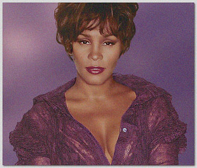 Whitney Houston Song Bird No. 4 Art Print by De Beall