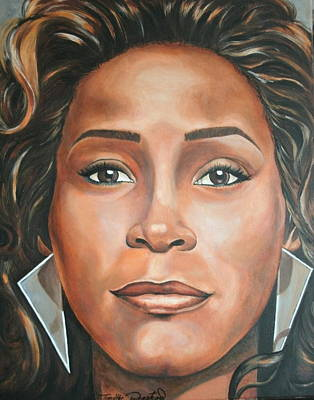 Portraits By Timothe Painting - Whitney Houston by Timothe Winstead