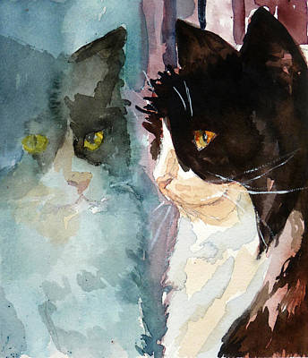 Watercolor Pet Portraits Photograph - Who Are You by P Maure Bausch
