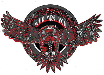 Who Are You Red Art Print