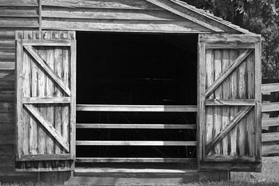 Who Opened The Barn Door Art Print