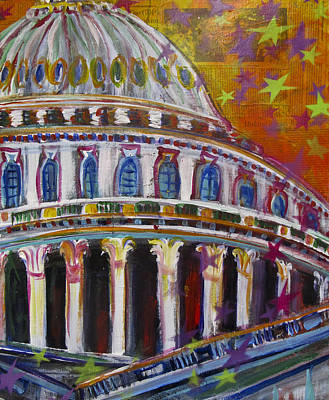 Capitol Building Mixed Media - Who Will Grab The Seats by Mary Gallagher-Stout