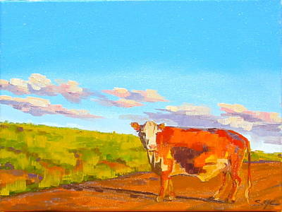 Painting - Why Did The Cow Cross The Road by Sarah Gayle Carter