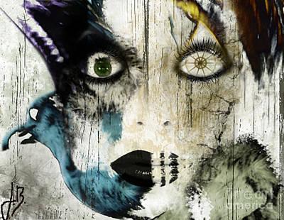 Self-portrait Mixed Media - Wicked by Jenn Bodro