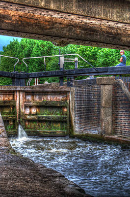 Photograph - Wide Water Lock by Chris Day