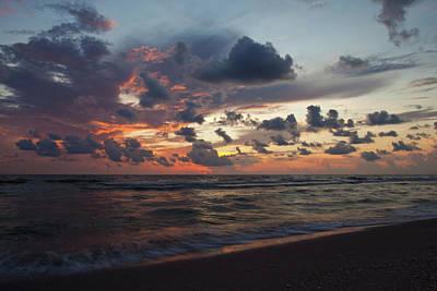 Wiggins Beach Summer Sunset. Art Print by Nick  Shirghio