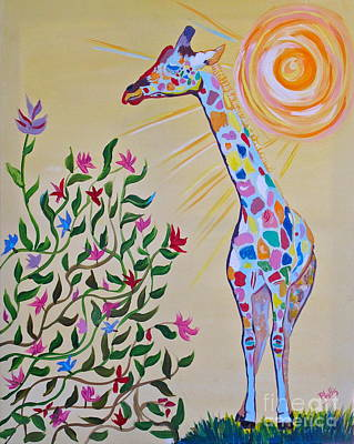 Painting - Wild And Crazy Giraffe by Phyllis Kaltenbach