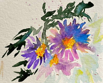 Wild Asters Painting - Wild Asters by Beverley Harper Tinsley