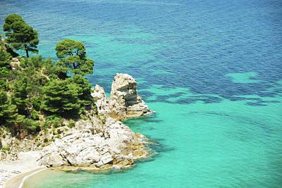 Wild Beach In Aegean Sea Print by Maya Karkalicheva