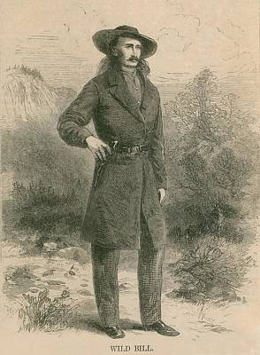 Wild Bill Hickok 1837-1876, Portrait Art Print by Everett