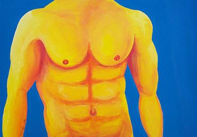 Physique Painting - Wild Blue Yonder by Randall Weidner