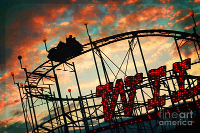 Roller Coaster Photograph - Wild Cat by Sylvia Cook