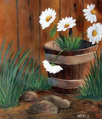 Painting - Wild Daisies by Kathy Sheeran
