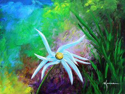 Art Print featuring the painting Wild Daisy 2 by Kume Bryant