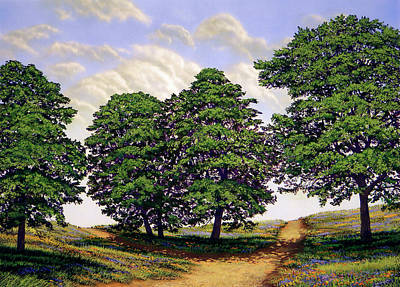 Painting - Wild Flower Path by Frank Wilson