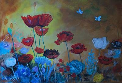 Painting - Wild Flowers Bright by Leslie Allen