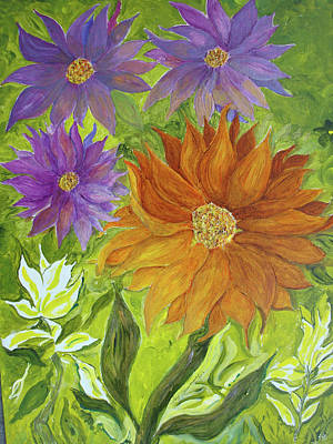 Painting - Wild Flowers by Joy Braverman