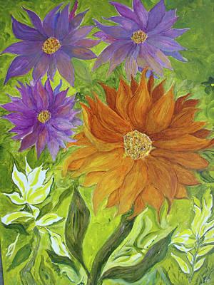 Art Print featuring the painting Wild Flowers by Joy Braverman