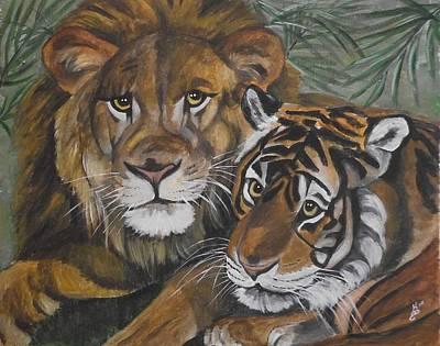 Wild Friends Art Print by Kim Selig
