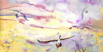 Geese Painting - Wild Geese by Miki De Goodaboom