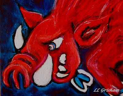 Painting - Wild Hog by Laura  Grisham