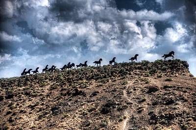 Photograph - Wild Horses Monument by Spencer McDonald