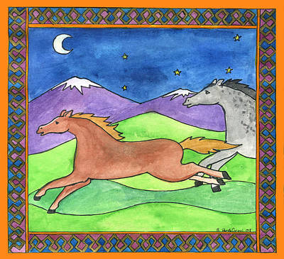 Wild Horses Art Print by Pamela  Corwin
