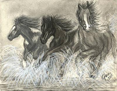 Wild Horses Run Art Print by Gina Cordova