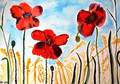 Painting - Wild Poppies by Valerie Ornstein