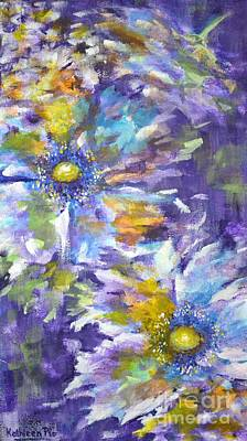 Art Print featuring the painting Wild Purple Roses by Kathleen Pio