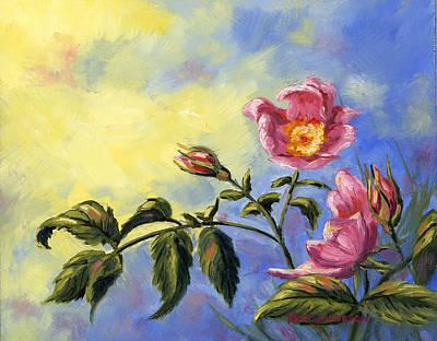 Wild Rose Art Print by Kurt Jacobson